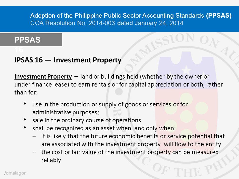 IPSAS 16 ― Investment Property