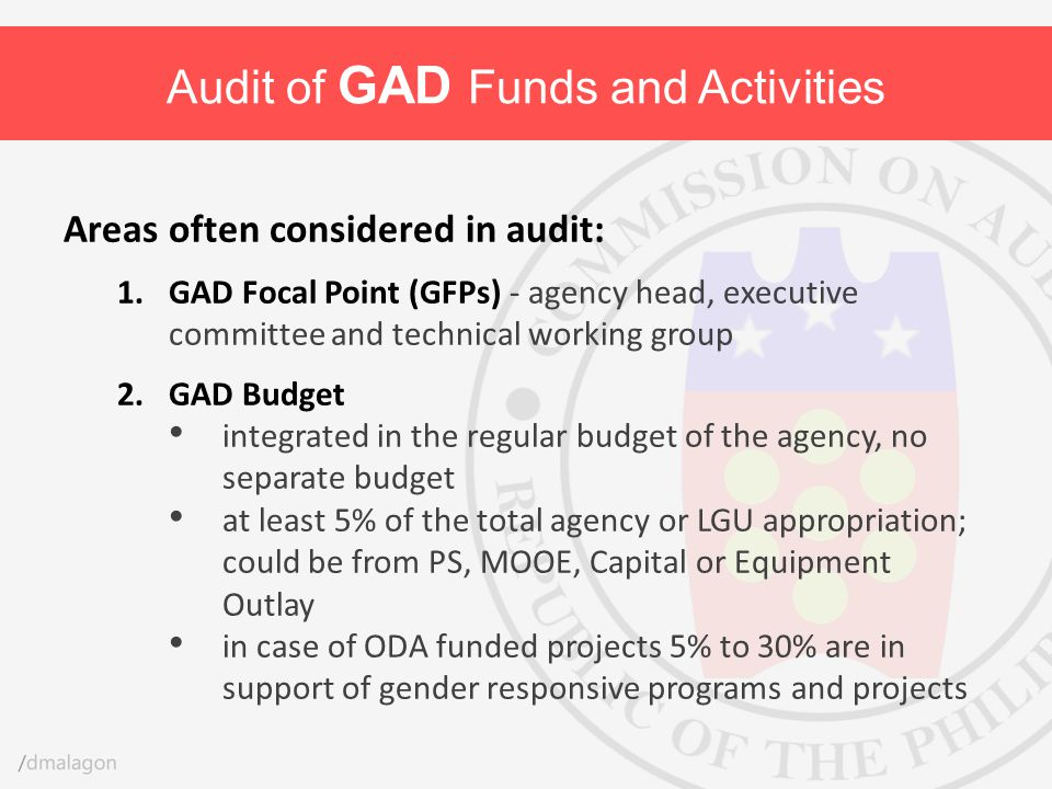 Audit of GAD Funds and Activities