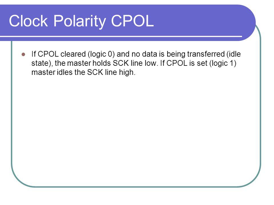 Clock Polarity CPOL