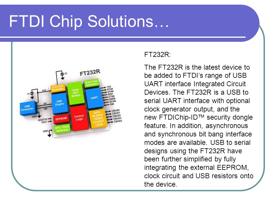 FTDI Chip Solutions… FT232R: