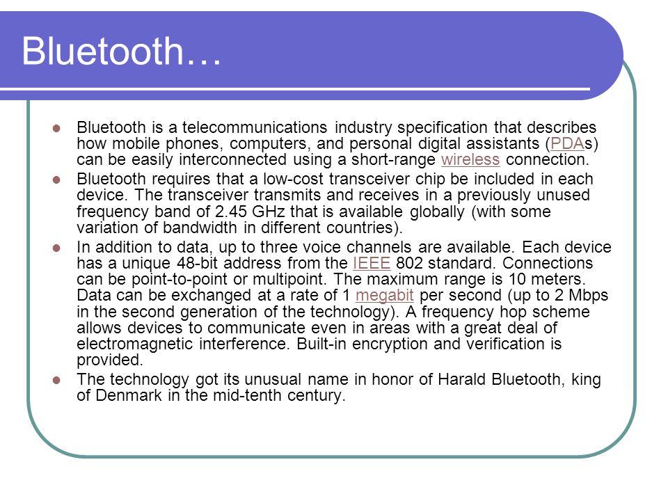 Bluetooth…