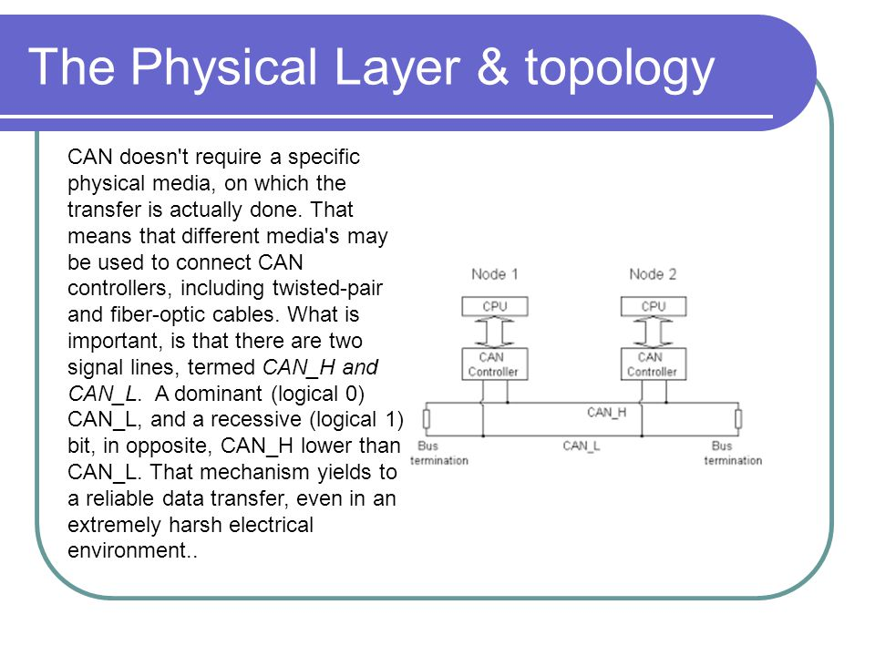 The Physical Layer & topology