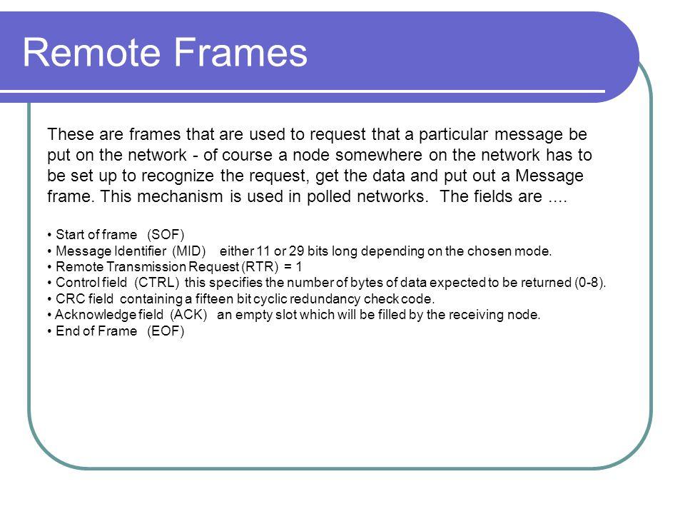 Remote Frames