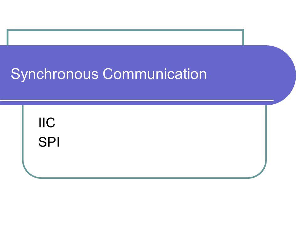 Synchronous Communication