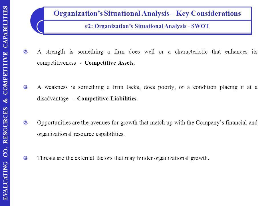 #2: Organization's Situational Analysis - SWOT