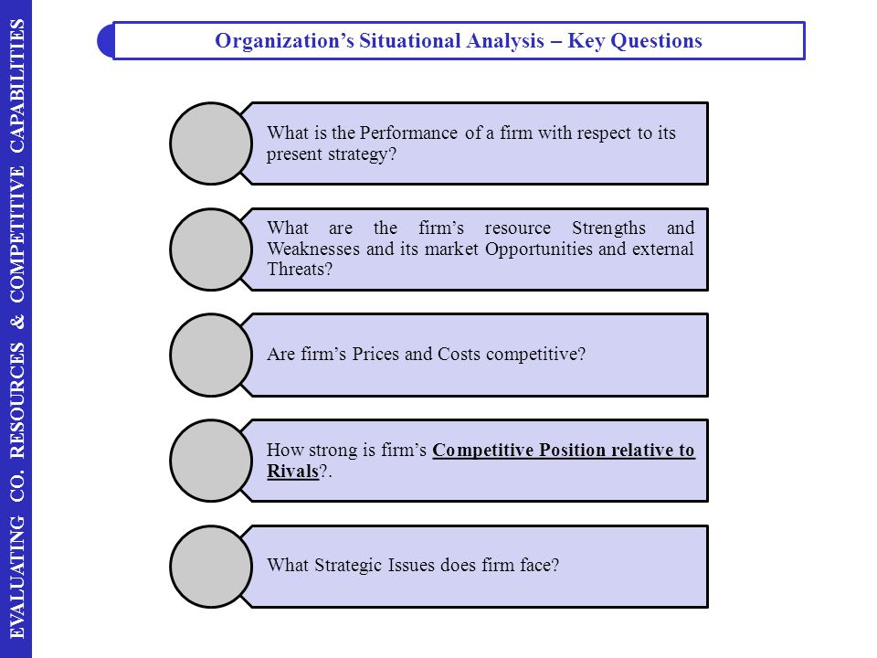 Organization's Situational Analysis – Key Questions