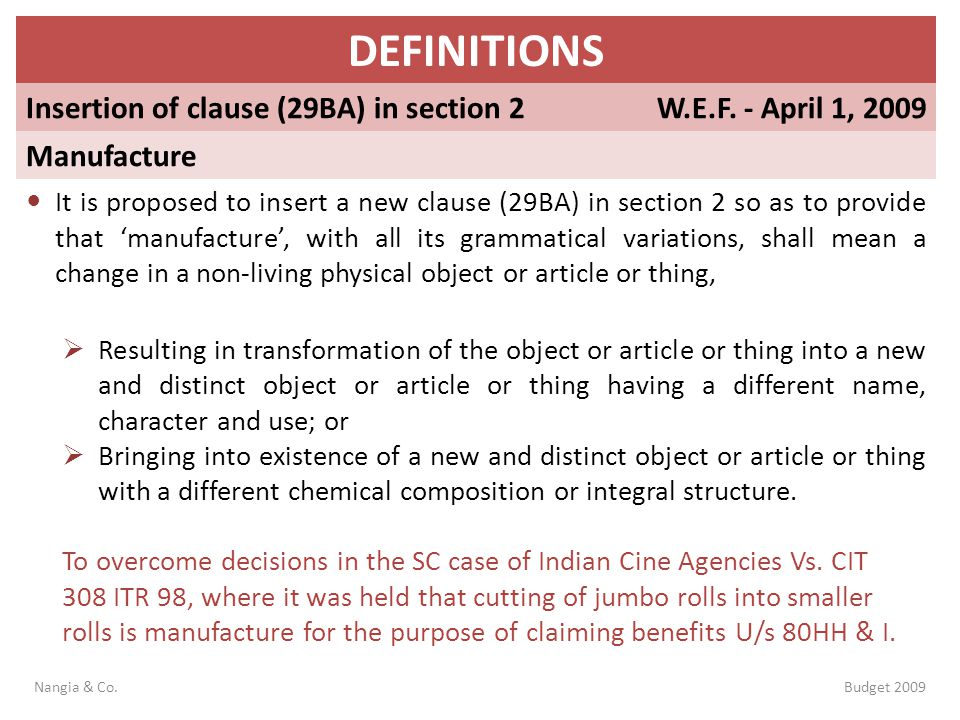 DEFINITIONS Insertion of clause (29BA) in section 2