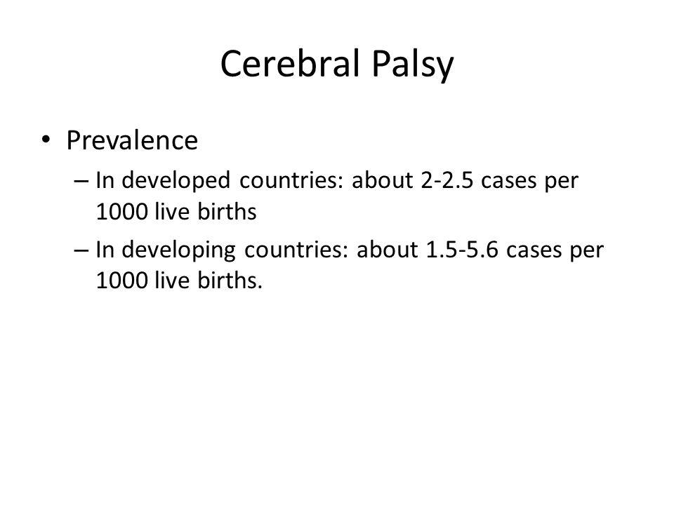 Cerebral Palsy Prevalence