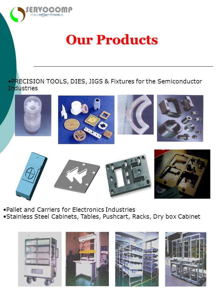 enterprises Our Products SERVOCOMP