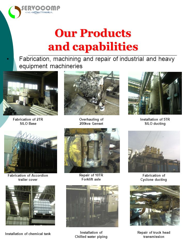 enterprises Our Products and capabilities SERVOCOMP