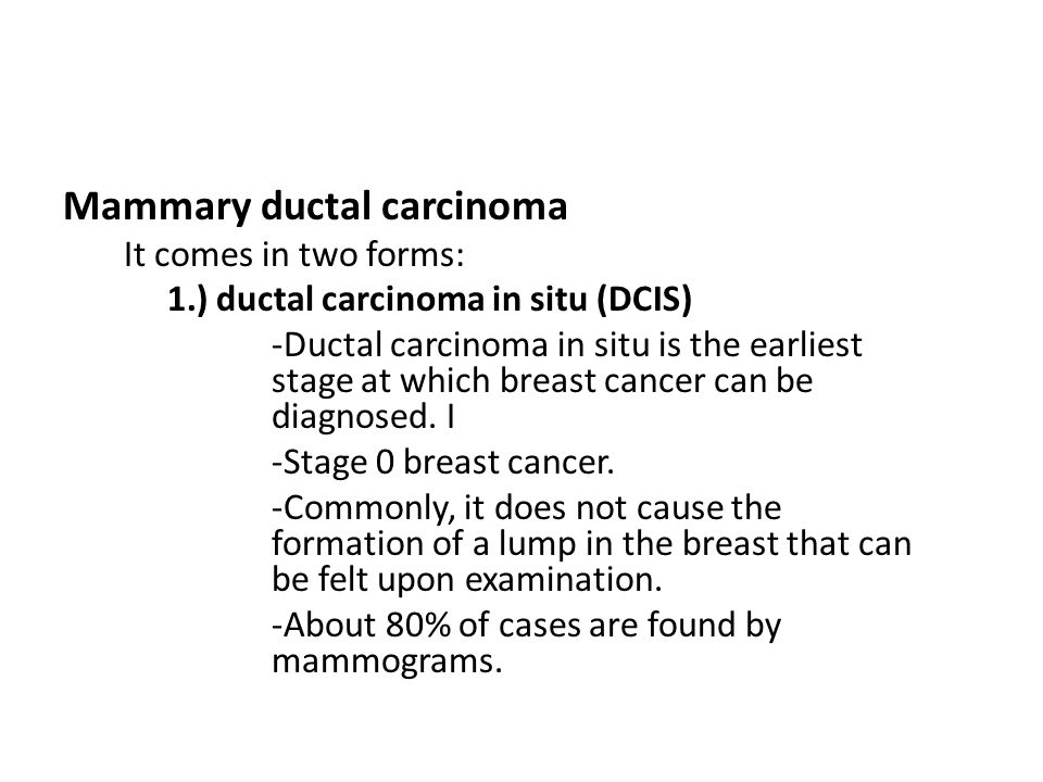Mammary ductal carcinoma