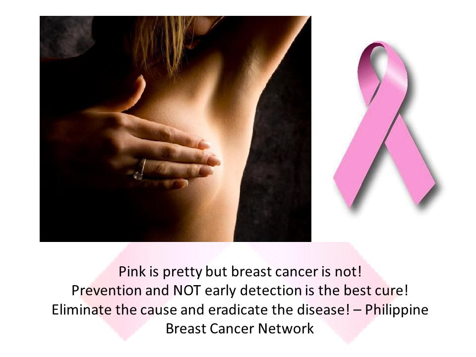 Pink is pretty but breast cancer is not