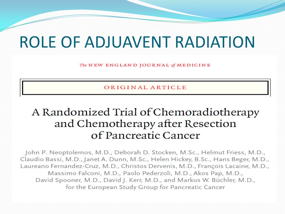 ROLE OF ADJUAVENT RADIATION