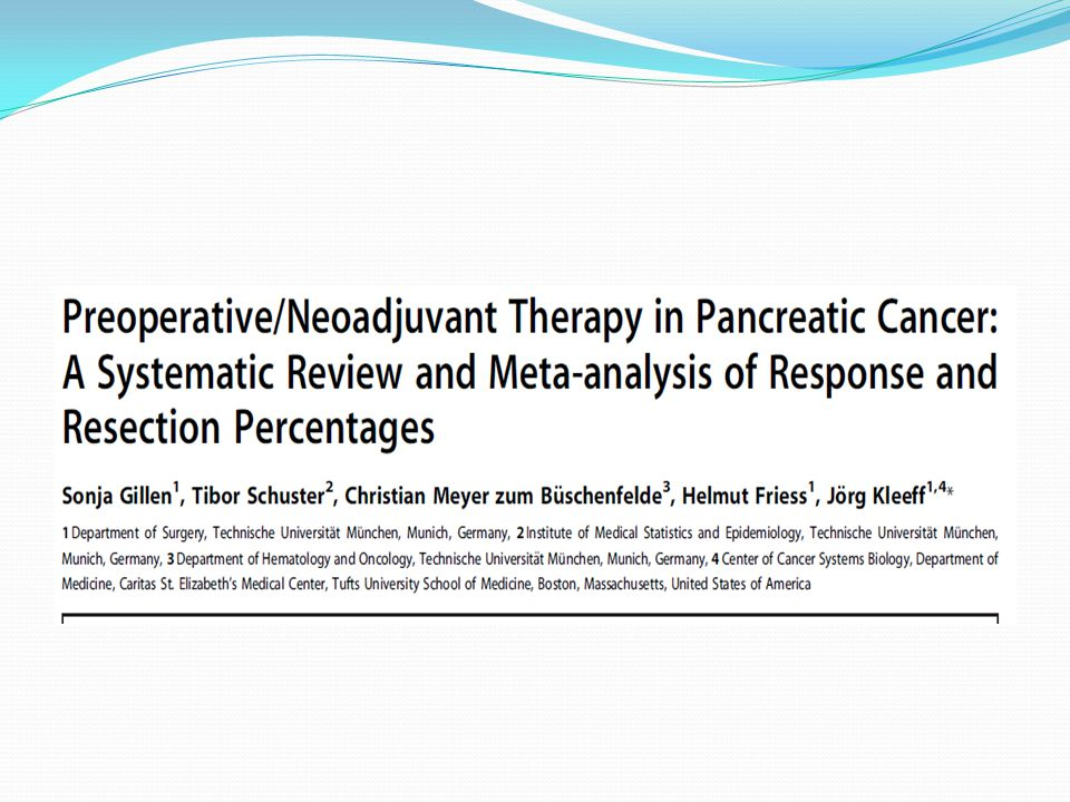 A meta -analysis mainly consisting of heterogenous phase I and II studies found a median overall survival of 23.3 (range 12–54) months, with perioperative mortality of 5.3% (95% CI 4.1%– 6.8%).