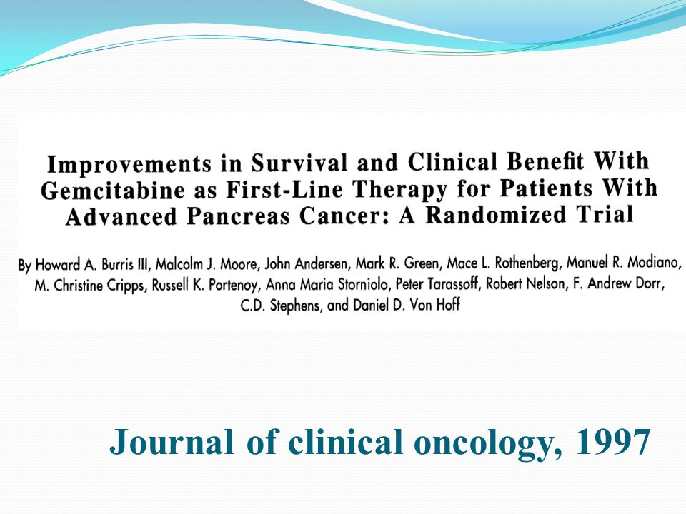 Journal of clinical oncology, 1997