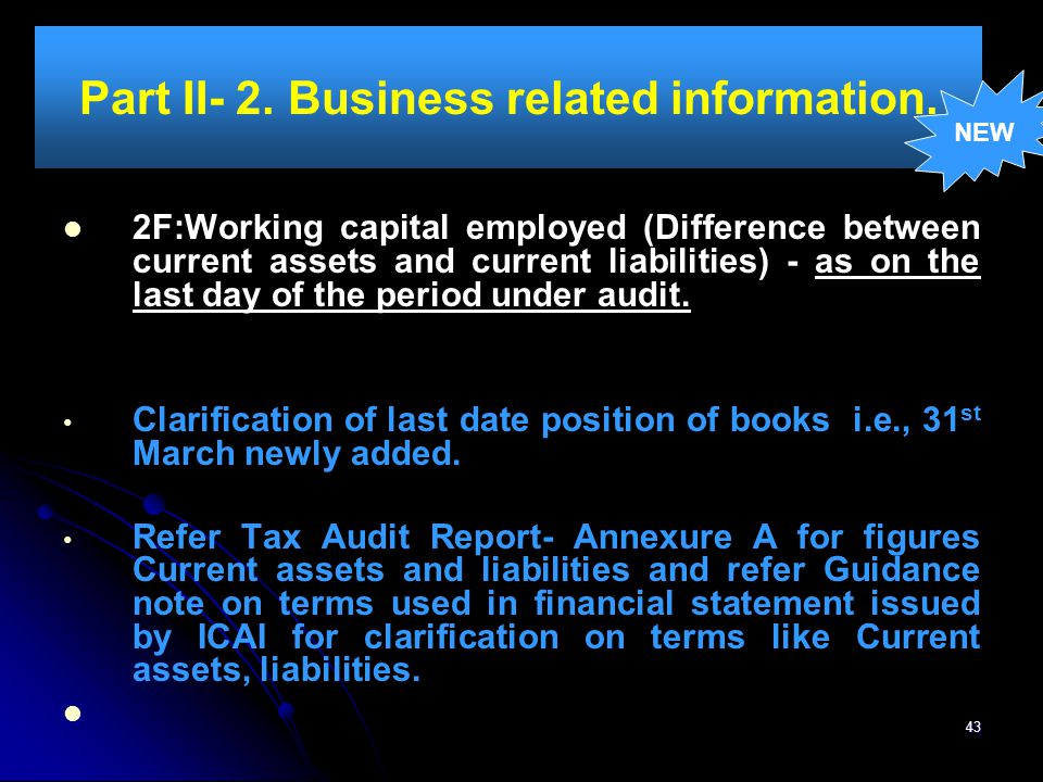Part II- 2. Business related information.