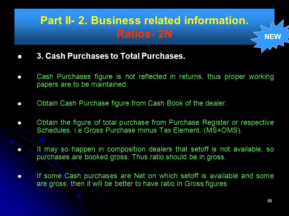 Part II- 2. Business related information. Ratios- 2N