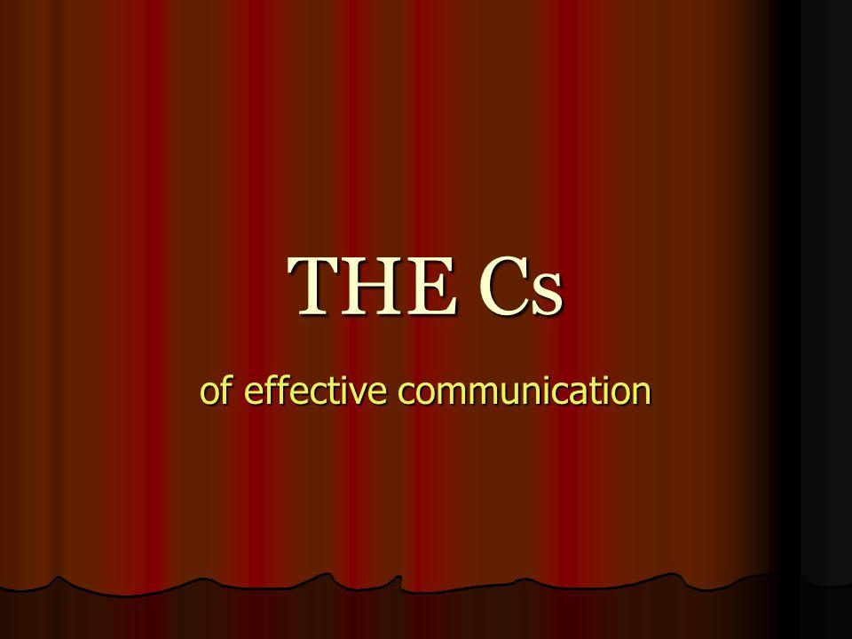 of effective communication