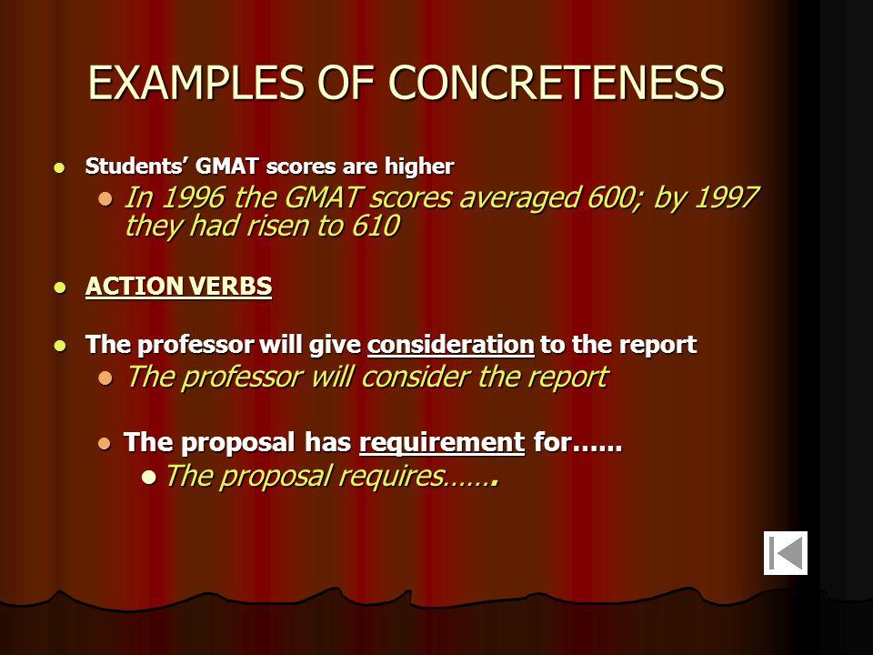 EXAMPLES OF CONCRETENESS