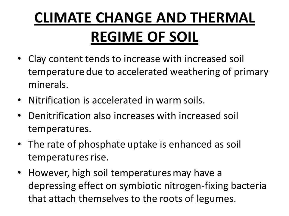 CLIMATE CHANGE AND THERMAL REGIME OF SOIL