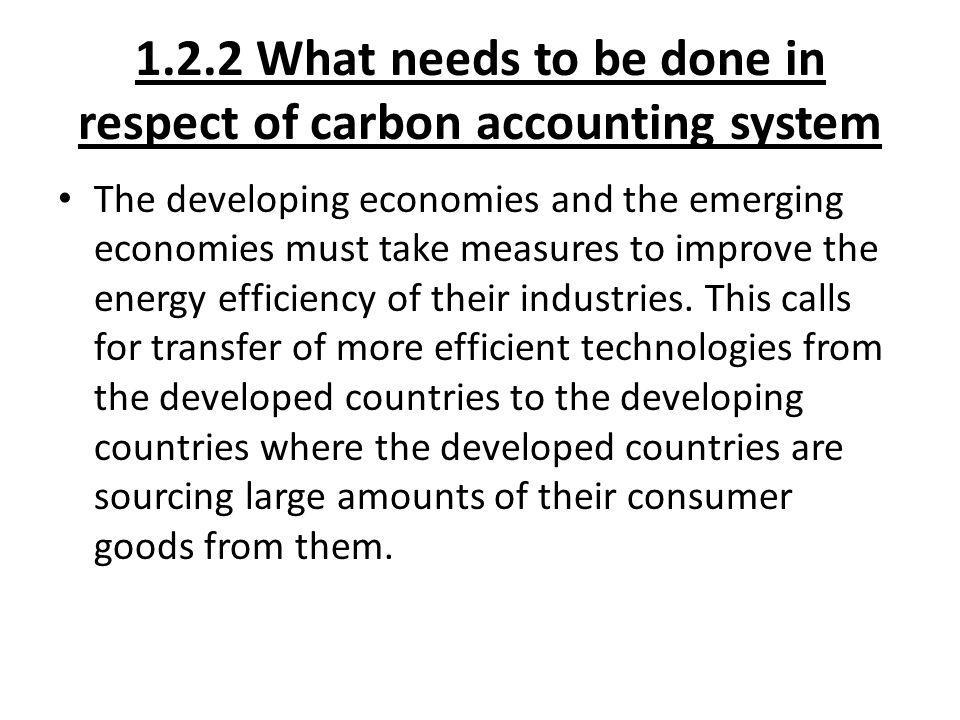 1.2.2 What needs to be done in respect of carbon accounting system