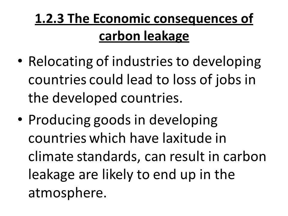 1.2.3 The Economic consequences of carbon leakage
