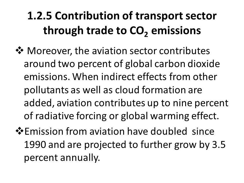 1.2.5 Contribution of transport sector through trade to CO2 emissions
