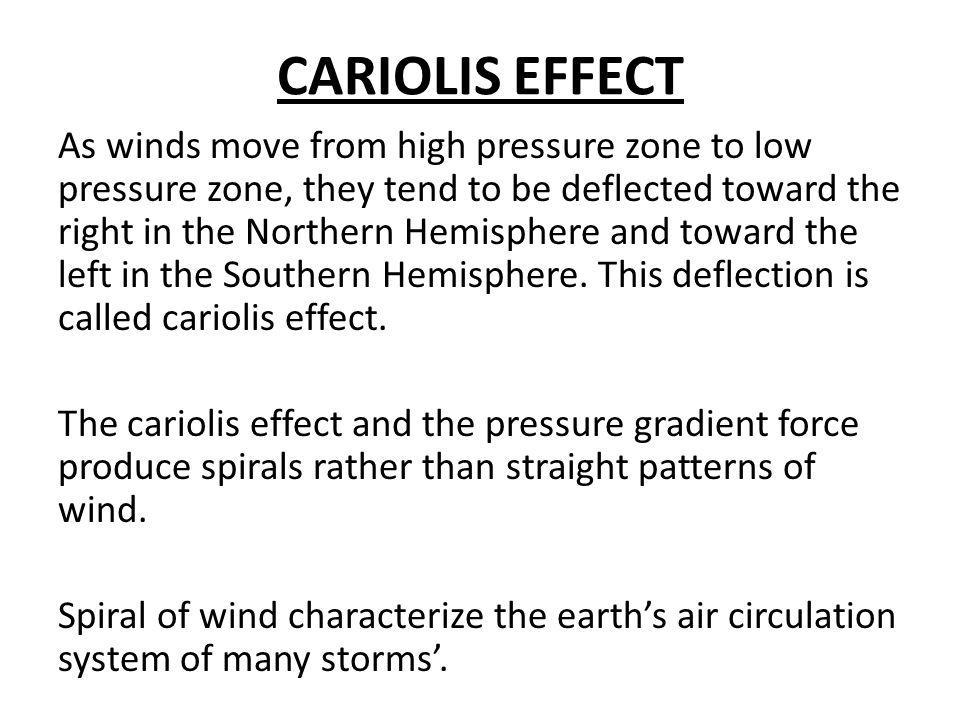 CARIOLIS EFFECT