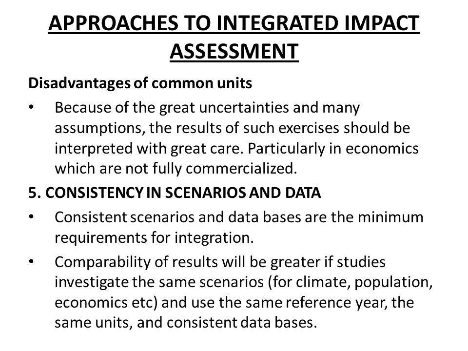 APPROACHES TO INTEGRATED IMPACT ASSESSMENT