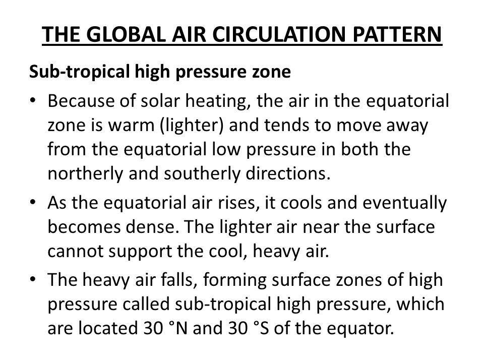 THE GLOBAL AIR CIRCULATION PATTERN