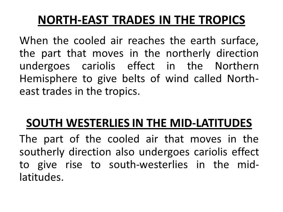 NORTH-EAST TRADES IN THE TROPICS