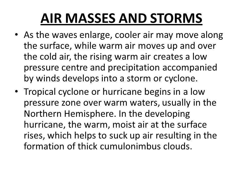 AIR MASSES AND STORMS
