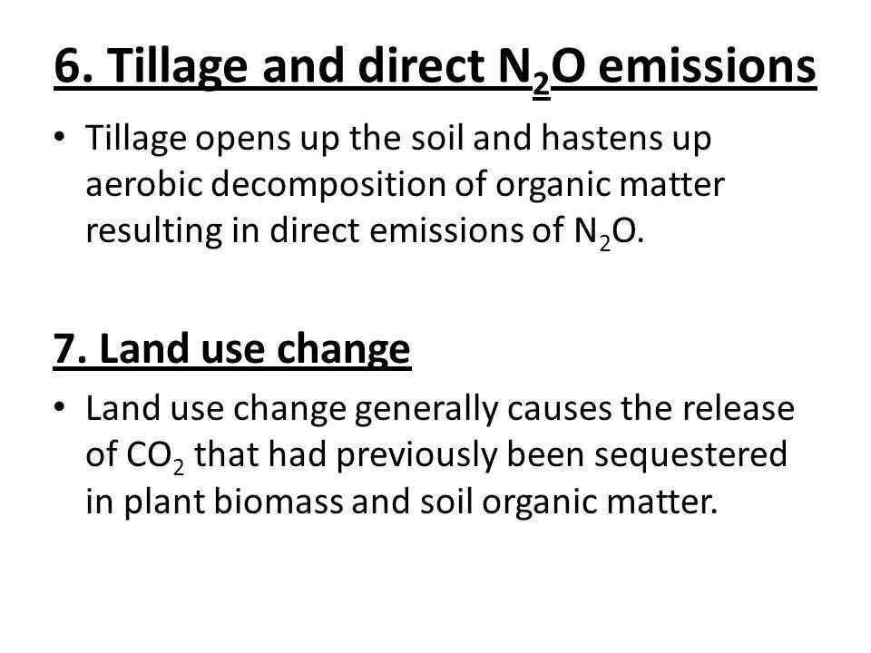 6. Tillage and direct N2O emissions