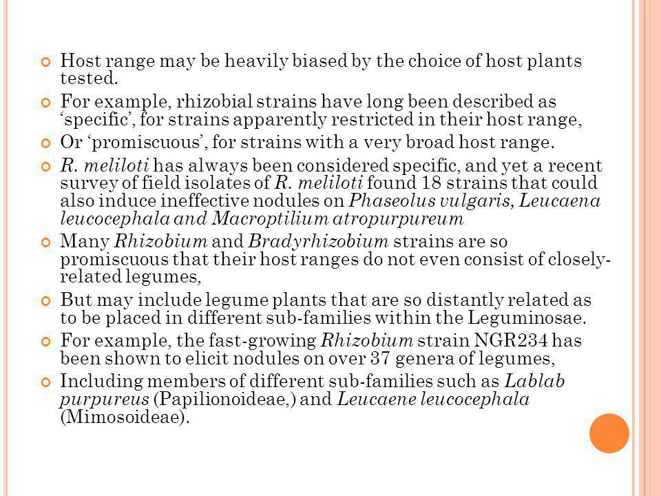 Host range may be heavily biased by the choice of host plants tested.