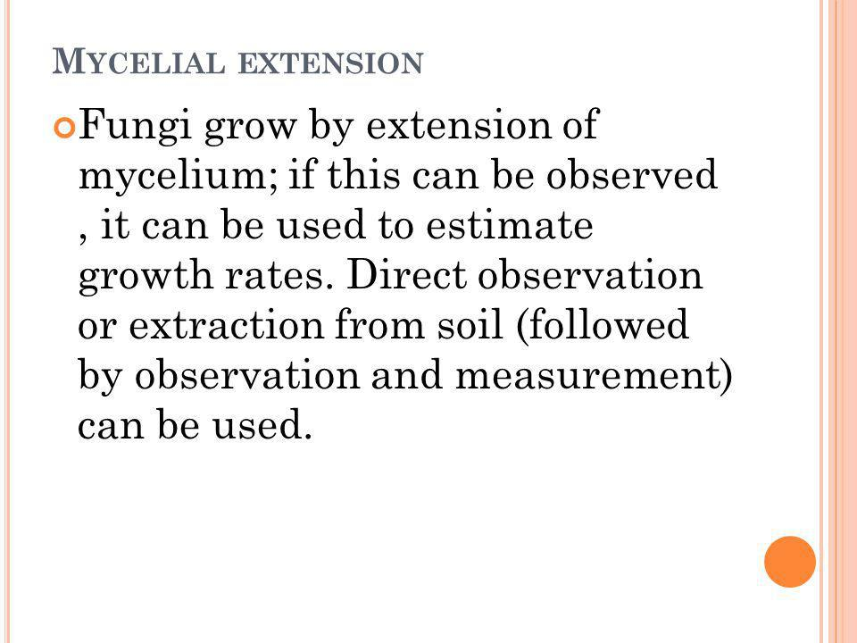 Mycelial extension