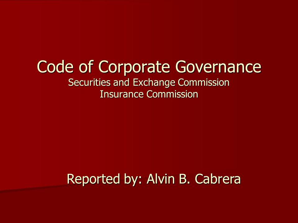 Reported by: Alvin B. Cabrera