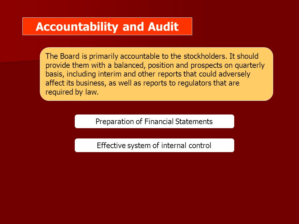 Accountability and Audit