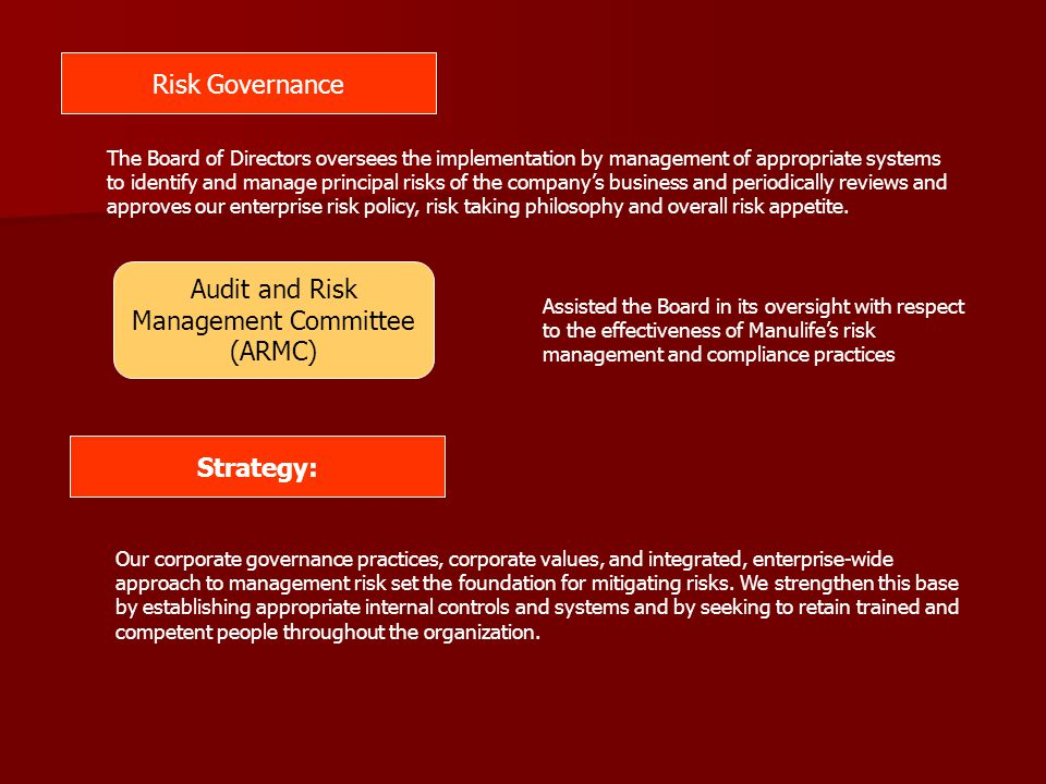 Audit and Risk Management Committee (ARMC)