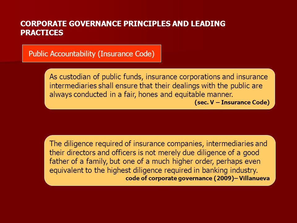 Public Accountability (Insurance Code)