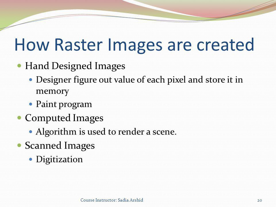 How Raster Images are created