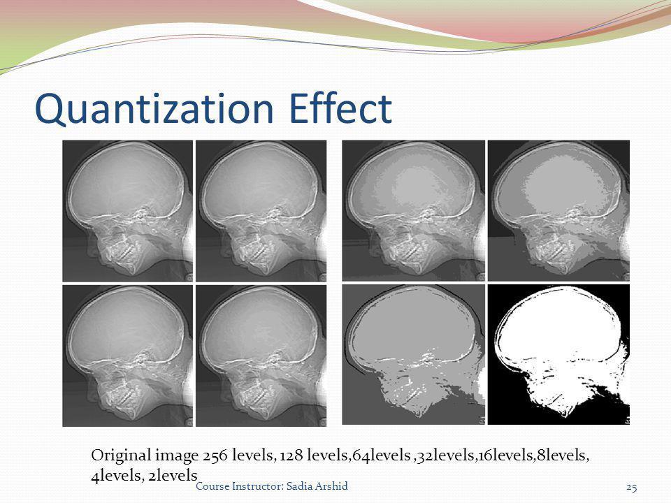 Quantization Effect Original image 256 levels, 128 levels,64levels ,32levels,16levels,8levels, 4levels, 2levels.