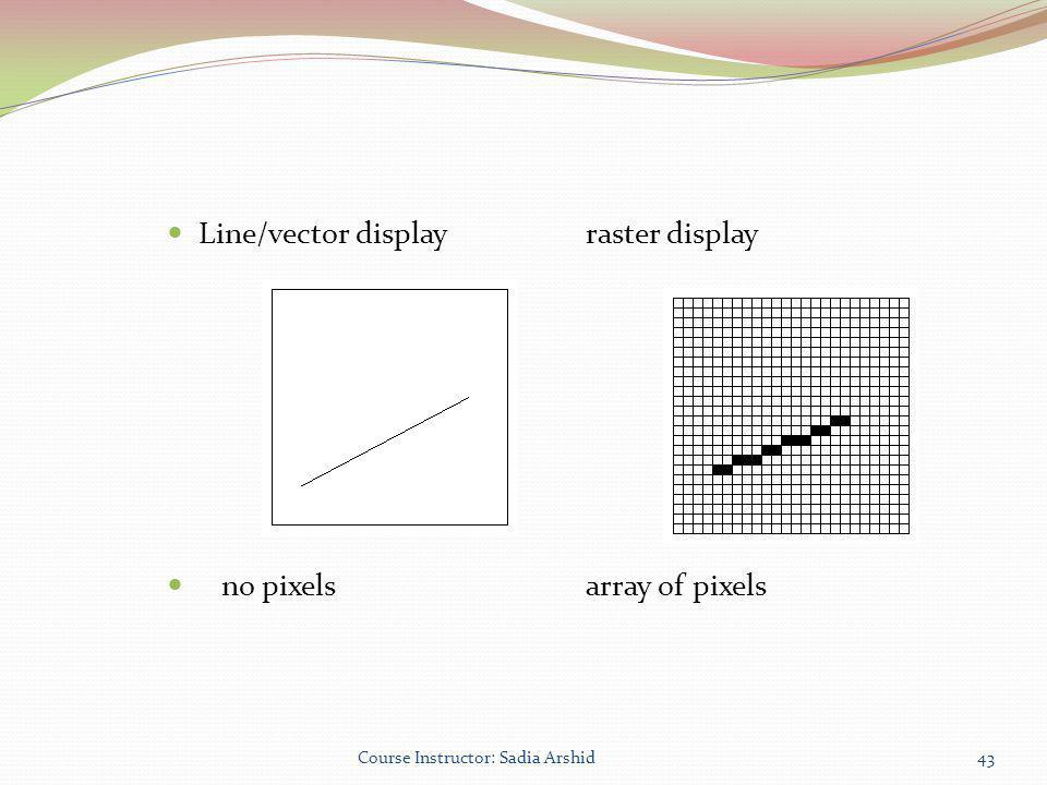 Line/vector display raster display