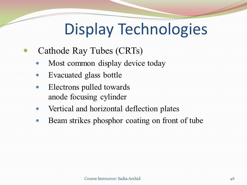 Display Technologies Cathode Ray Tubes (CRTs)