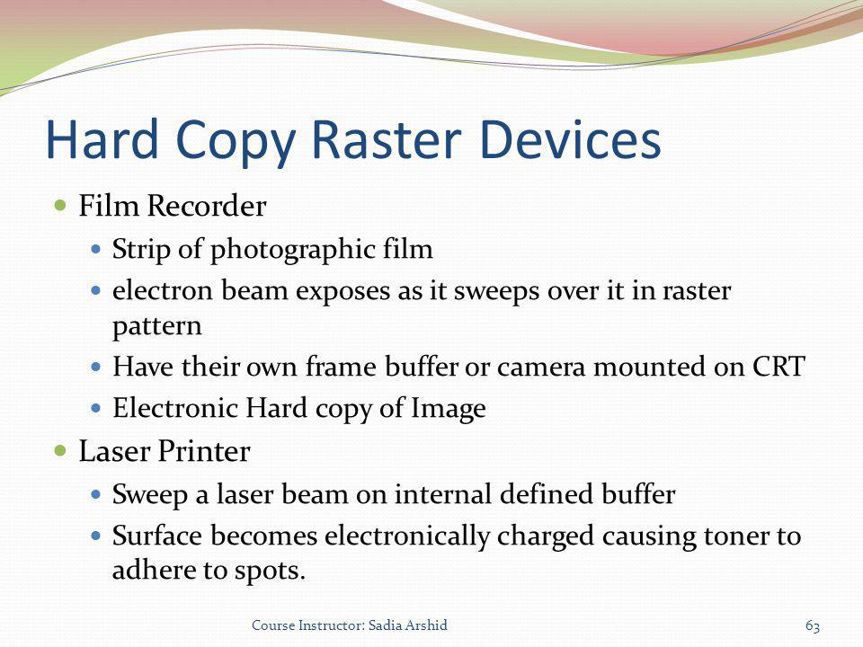 Hard Copy Raster Devices