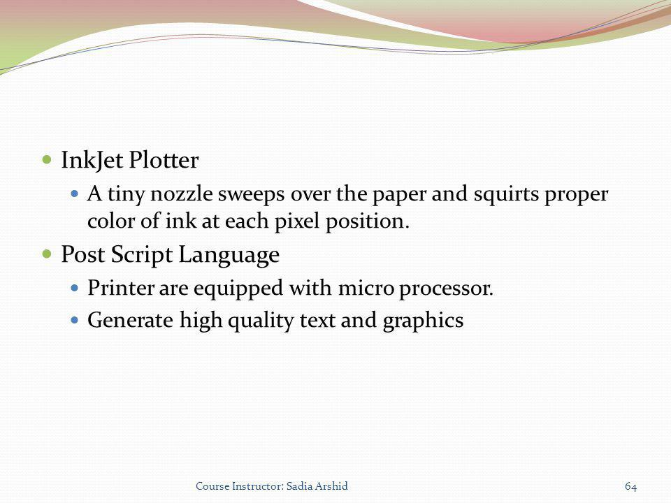 InkJet Plotter Post Script Language