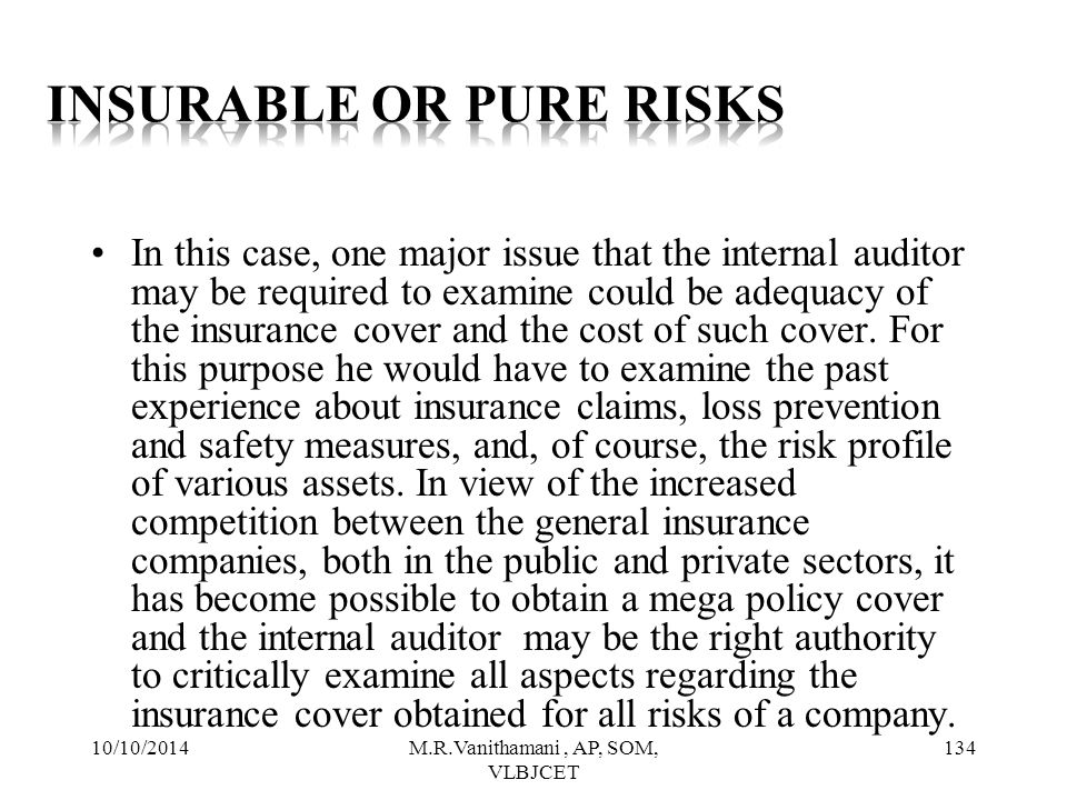 Insurable or Pure Risks