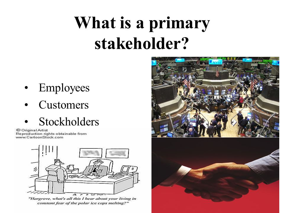 What is a primary stakeholder