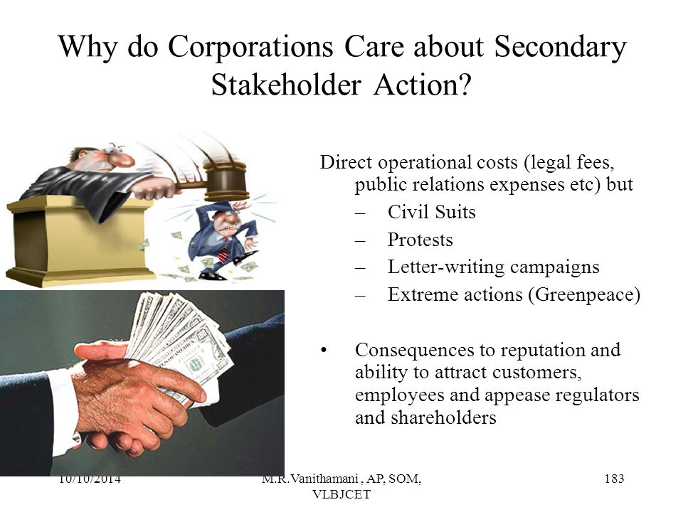 Why do Corporations Care about Secondary Stakeholder Action