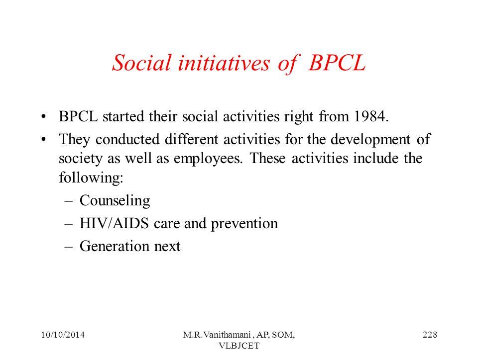 Social initiatives of BPCL