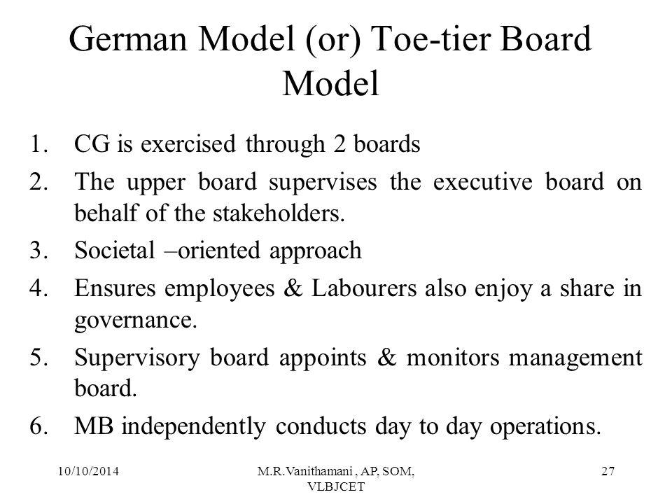 German Model (or) Toe-tier Board Model